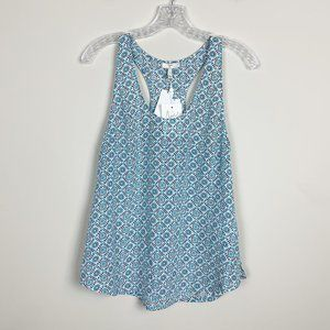 Joie | NWT blue printed silk tank top size small